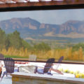 Oasis 2600 Patio Shade with view of Flatirons
