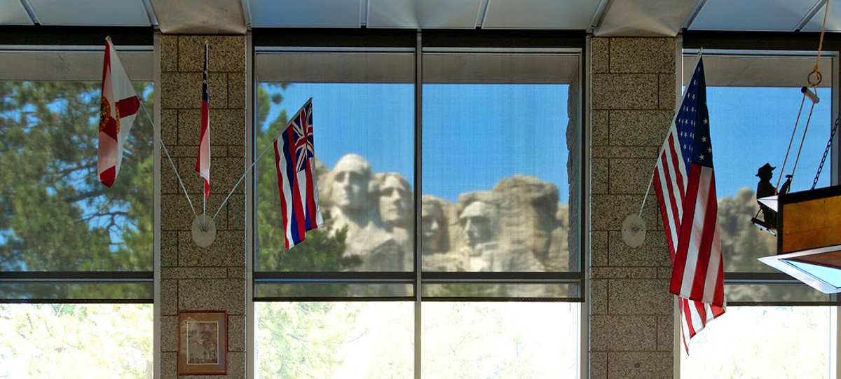 mount rushmore visitor center solar screen shades